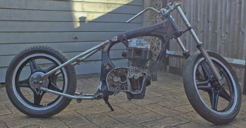 Honda Superdream hardtail Bobber Chopper